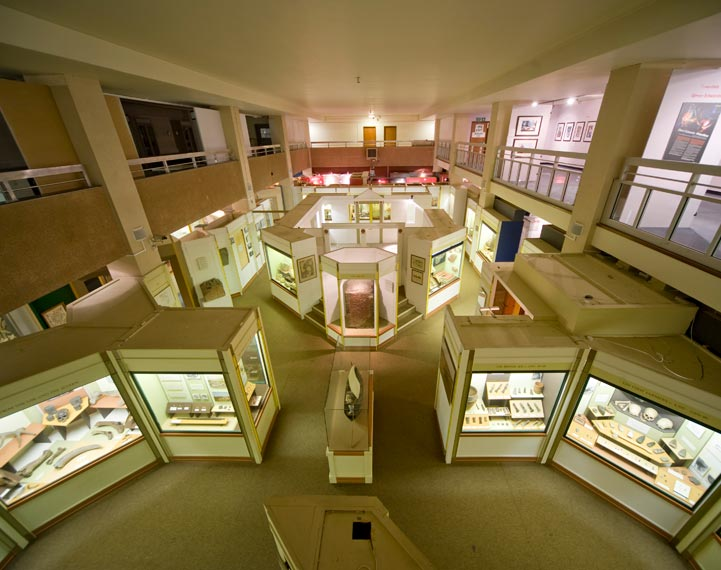 Newport Museum from Mezzanine Level