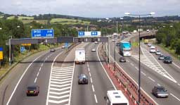 Image of the M4 motorway, Newport