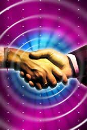 Image of people shaking hands