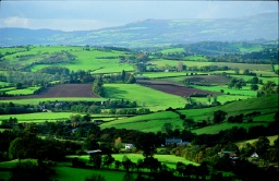 Image of green countryside surrounding Newport