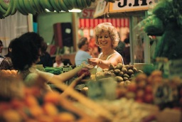 Image of a Newport Market stallholder and stall