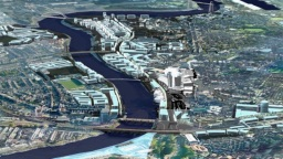Artist's impression of the Newport City Centre redevelopment