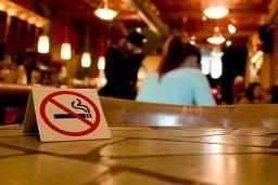 Image of a No Smoking sign displayed in a bar