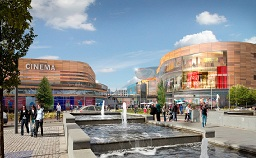 Artist's impression of the city centre redevelopment